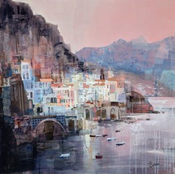 Atrani Twilight by Tom Butler -  sized 30x30 inches. Available from Whitewall Galleries